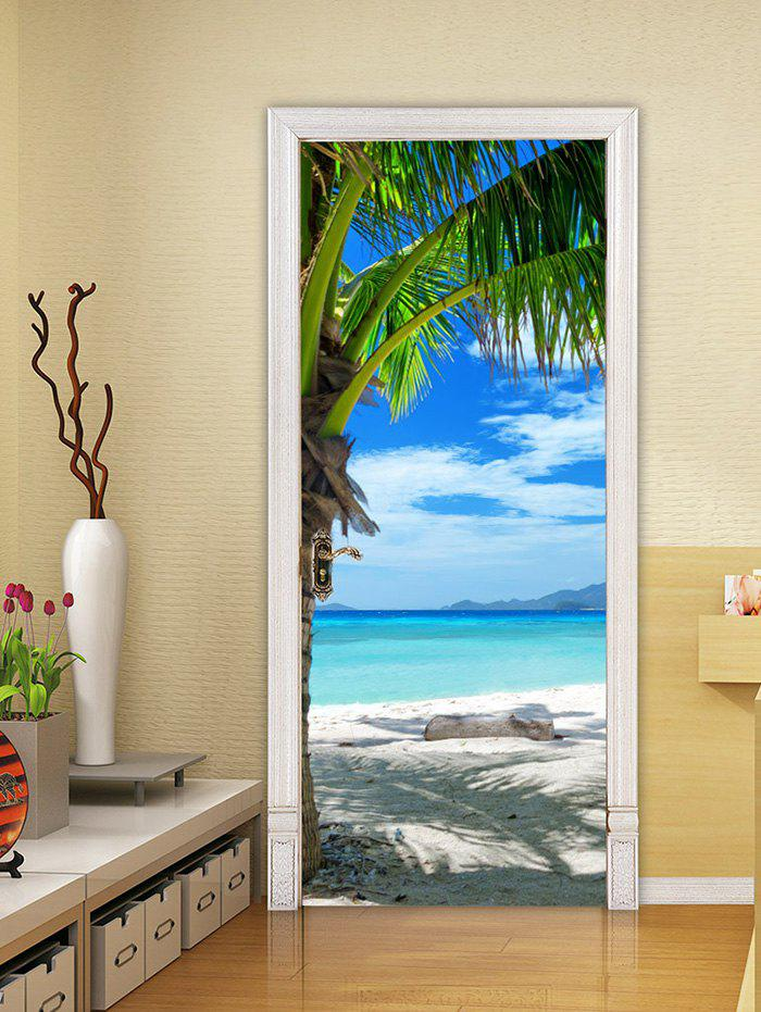 Best Beach Palm Tree Print Door Art Stickers