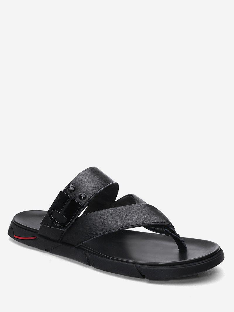 Buy Metal Detail Casual Flip Flops