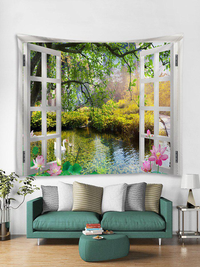 Discount Window Landscape Print Art Decoration Wall Tapestry