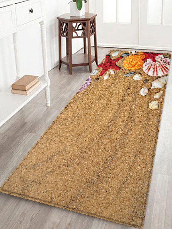 Beach Conch Pattern Water Absorption Area Rug
