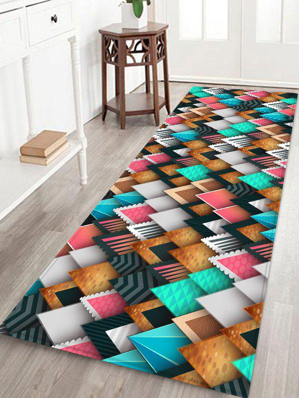 Colorful Triangle Print Floor Mat