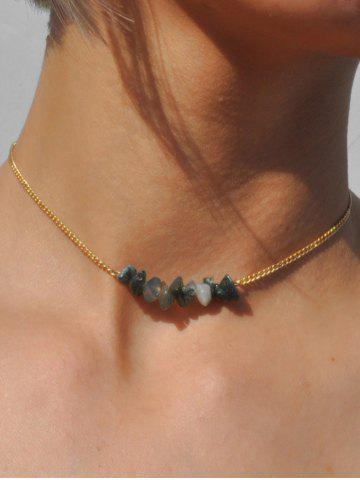 Beaded Natural Stone Choker Necklace