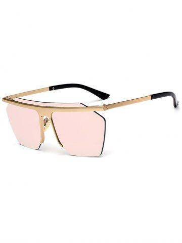 Integral Irregular Semi-rimless Sunglasses