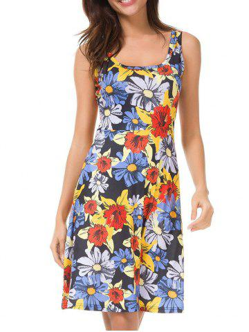 Sleeveless Floral Casual Dress