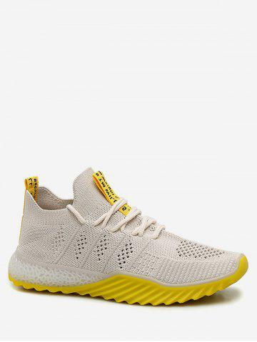 Contrast Color Breathable Mesh Sneakers