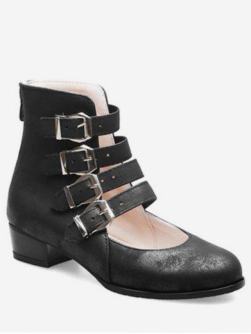 Buckle Strap High Top Shoes