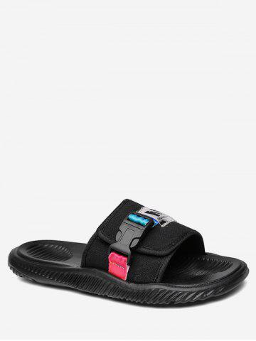 Buckle Design Casual Slippers