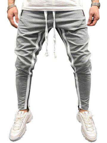 Color Spliced Drawstring Jogger Pants