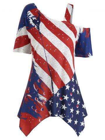 5657e22f6d1 Plus Size American Flag Shirt - Free Shipping