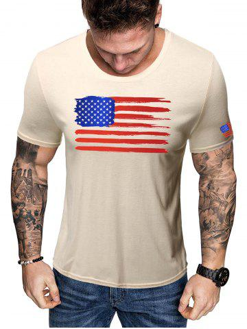 American Flag Short Sleeve T Shirt