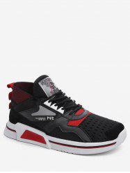 Color Block Mid Top Breathable Sneakers -