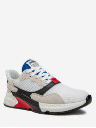 Color Spliced Lace-up Design Sport Sneakers -