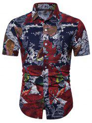 Maple Leaf Pattern Short Sleeves Shirt -