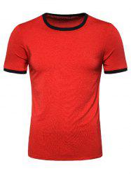 Casual Round Neck Short Sleeves T-shirt -