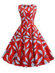 Sleeveless Belted Party Dress -
