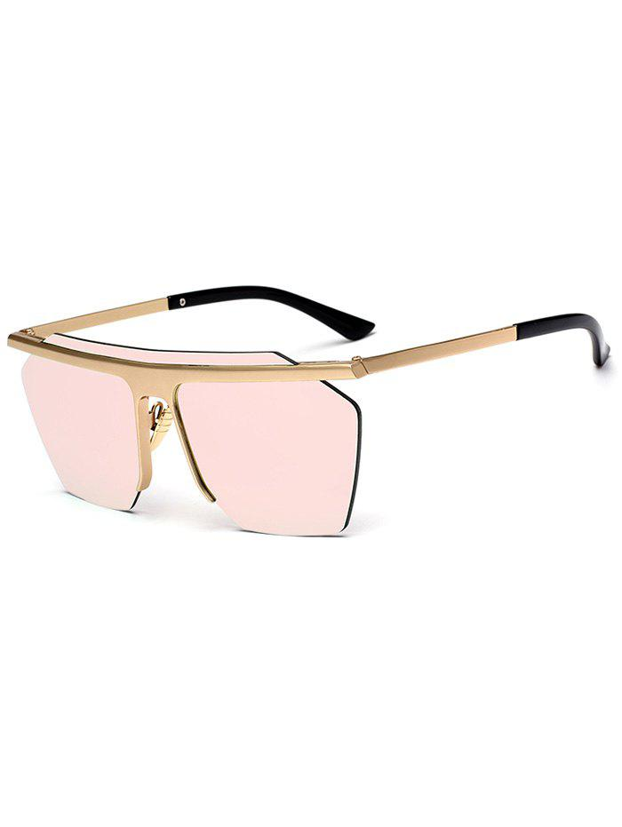 Fashion Integral Irregular Semi-rimless Sunglasses