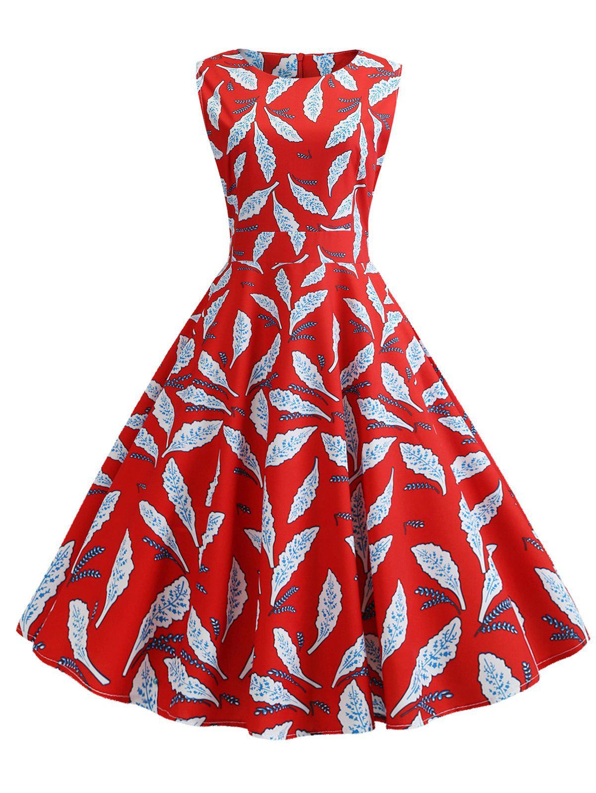 Latest Sleeveless Belted Party Dress
