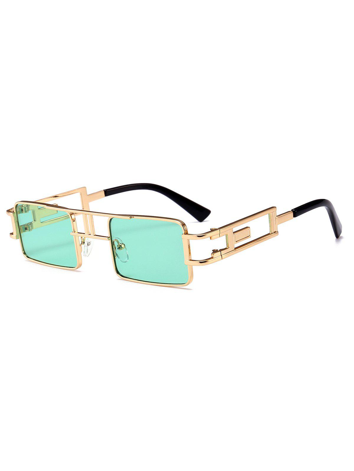Shop Hollow Leg Punk Rectangle Sunglasses