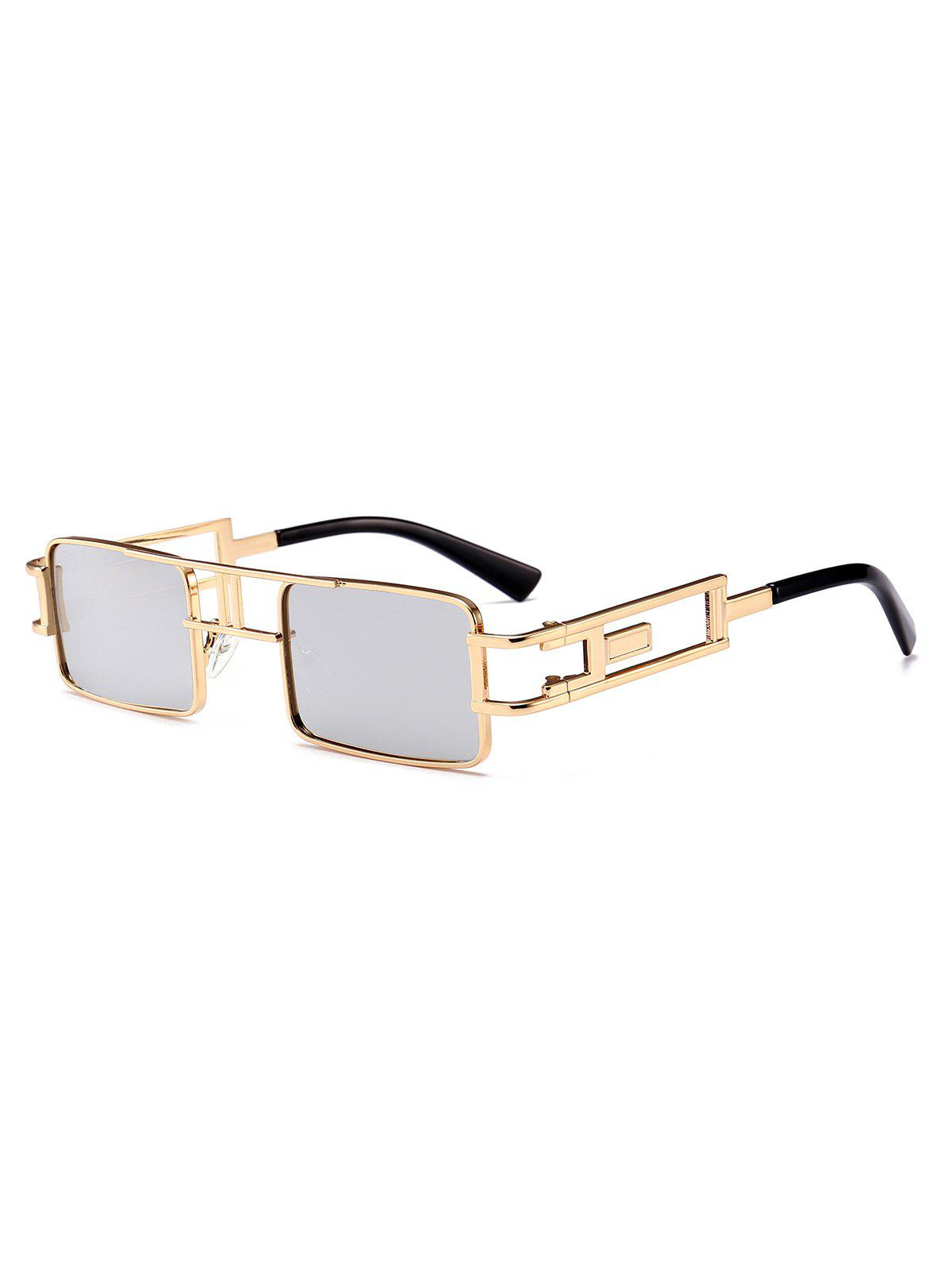 Unique Hollow Leg Punk Rectangle Sunglasses