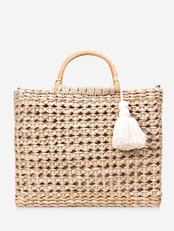 Chic Beach Style Straw Handbag