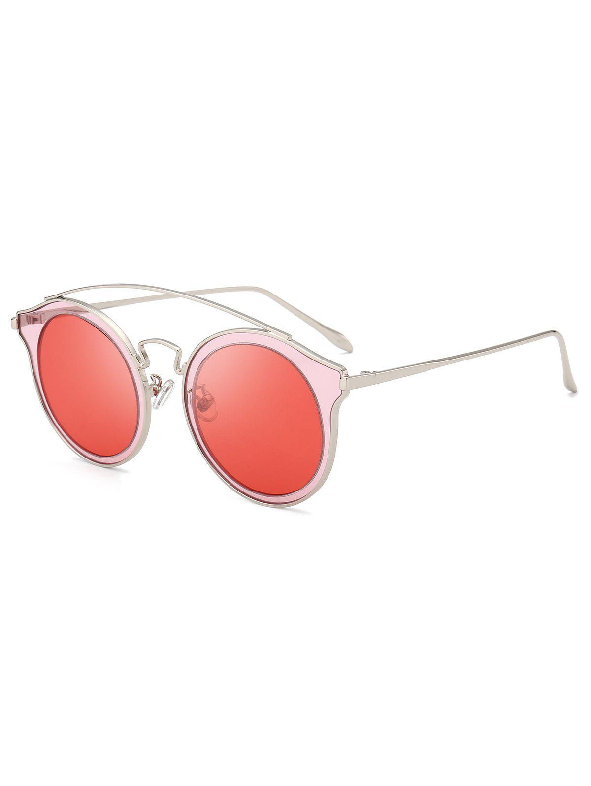 Outfit Metal Arc Bar Round Sunglasses