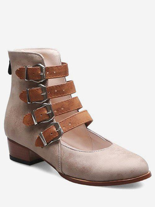 Hot Buckle Strap High Top Shoes