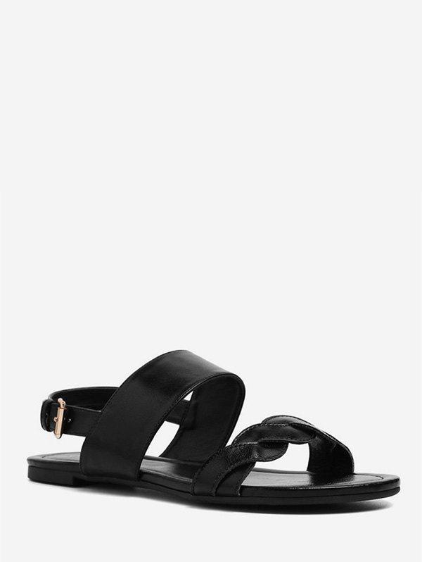 Outfit Twisted Strap Flat Sandals