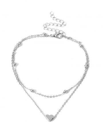 Simple Heart Double-layer Beach Anklet