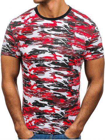 Camouflage Printed Leisure Short Sleeves T-shirt