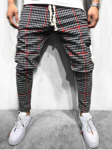 Houndstooth Pattern Casual Jogger Pants