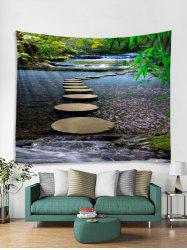 Stream Stone Path 3D Print Wall Tapestry -