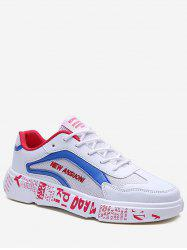 Letter Role Breathable Sneakers -