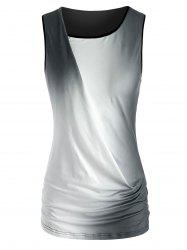 Ombre Ruched Tank Top -