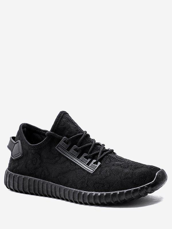 New Jacquard Low Top Knit Sneakers