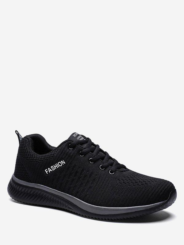 Store Contrast Casual Knit Sneakers