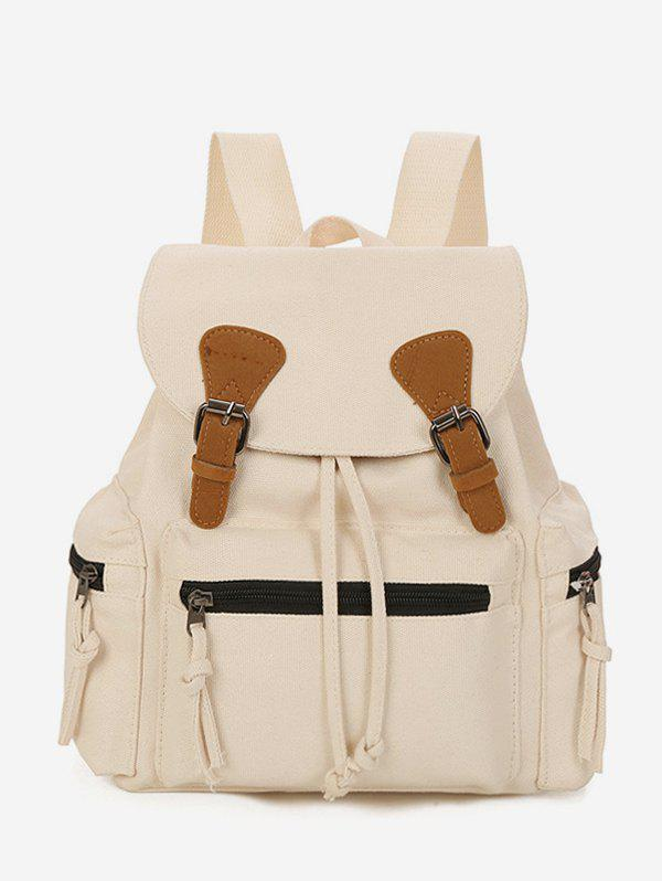 Discount Buckle Drawstring Canvas Backpack
