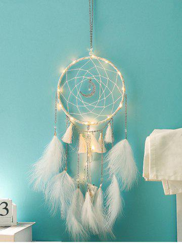 35b56363700 Handmade LED Light Tassel Feather Dream Catcher