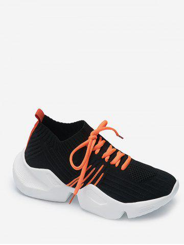 Two Tone Outdoor Knit Sneakers