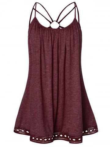 O Ring Strappy Plus Size Tank Top