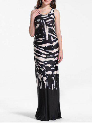 Maxi Tie Dye Racerback Bodycon Dress