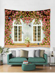 Butterfly Flower Print Art Decoration Wall Tapestry -