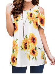 Sunflower Open Shoulder Tunic T-shirt -