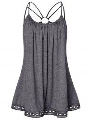 O Ring Strappy Plus Size Tank Top -