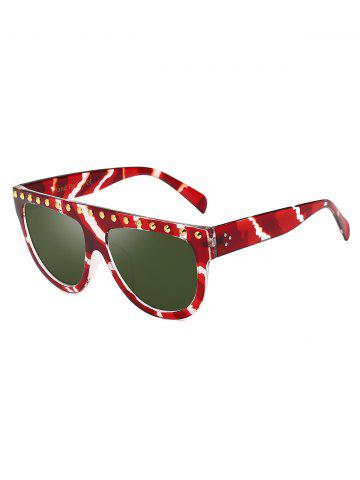 Semicircle Rivet Anti UV Sunglasses