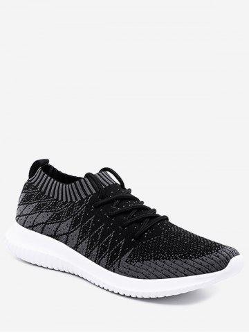 Outdoor Geometric Knit Mesh Sneakers