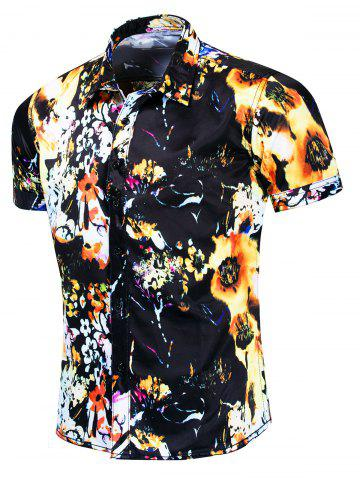 Floral Print Casual Style Short Sleeves Shirt