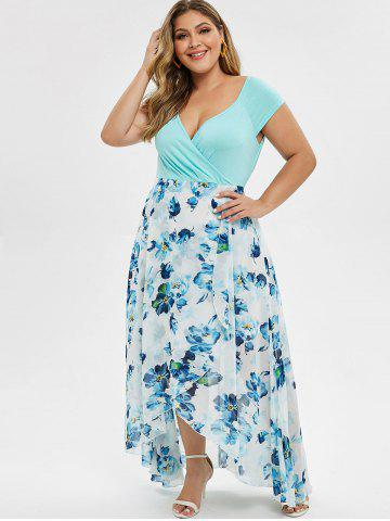 Plus Size High Low Maxi Floral Dress