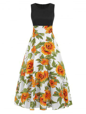 Sunflower Maxi Sleeveless Dress