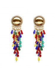 Exaggerated Colorful Tassels Earrings -
