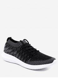 Outdoor Geometric Knit Mesh Sneakers -
